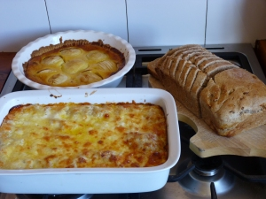 Bread, Apple Cake and Lasagne