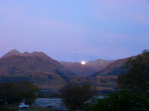 Amazing moon rise at Kinloch