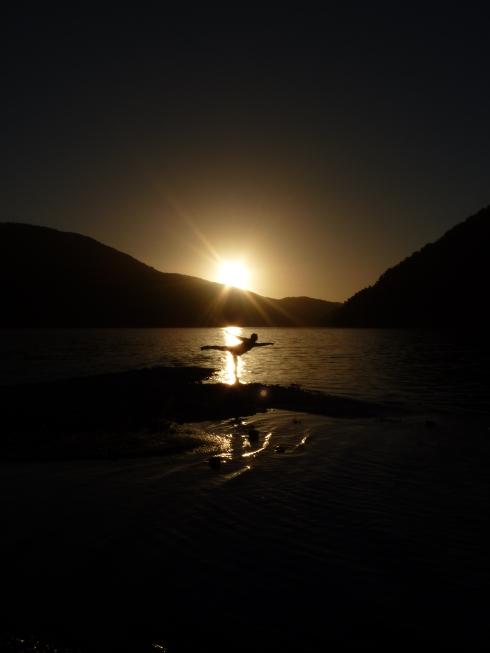 Sunset at Lake Paringa
