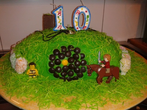 Noah's awesome Birthday Hobbit Lolly Cake prepared by Deb